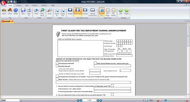 Magic PDF Editor Screenshot