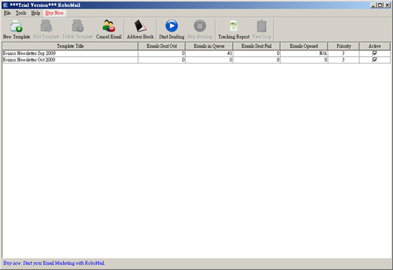 RoboMail Mass Mail Software Screenshot 1