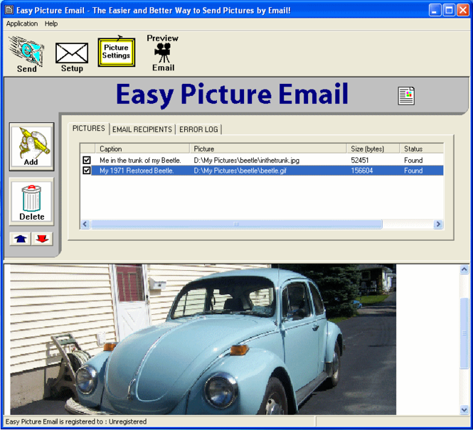 Easy Picture Email Screenshot 1