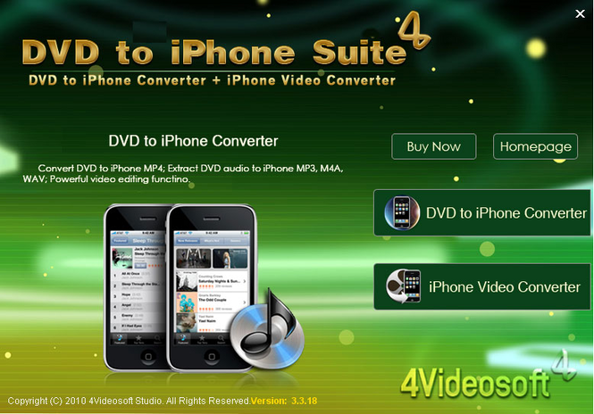 4Videosoft DVD to iPhone Suite Screenshot