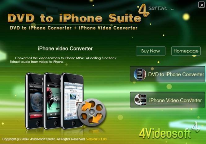 4Videosoft DVD to iPhone Suite Screenshot 2