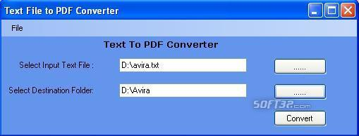 txt to PDF Converter Screenshot 2