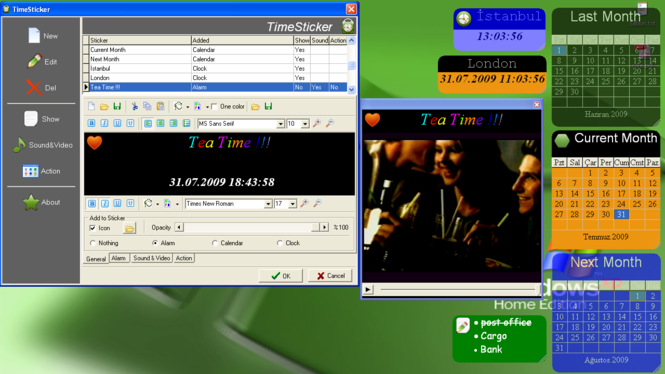 TimeSticker Screenshot