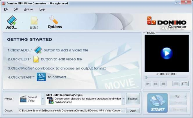 Domino MP4 Video Converter Screenshot 2