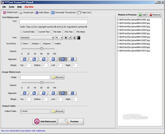 PhotoX Batch Watermark Creator Screenshot 3