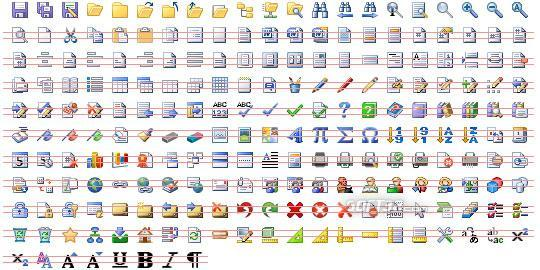 16x16 Office Toolbar Icons Screenshot 3