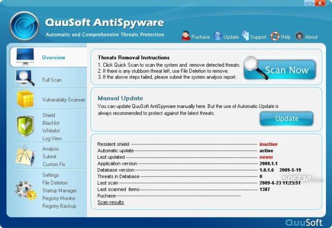 QuuSoft AntiSpyware Screenshot 3