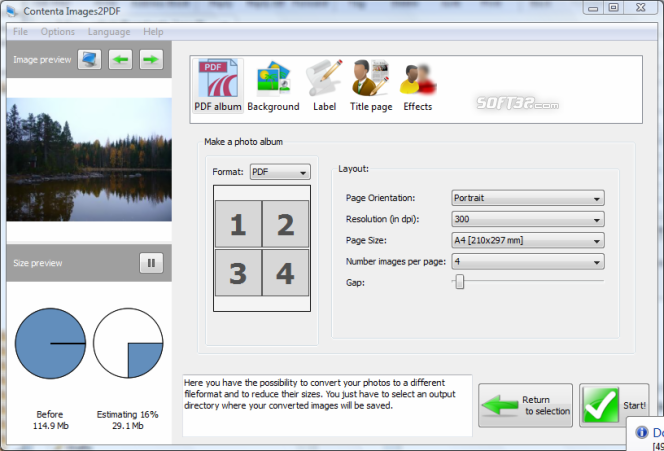 Contenta Images2PDF for Mac Screenshot 3