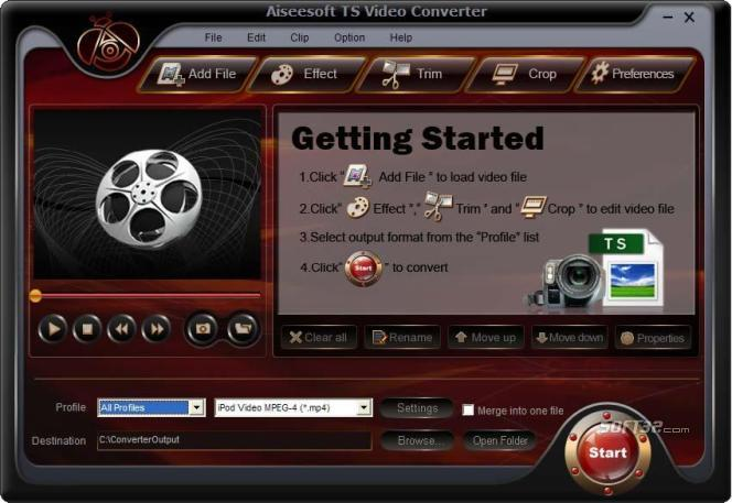 Aiseesoft TS Video Converter Screenshot 4