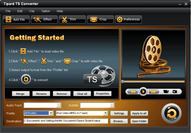 Tipard TS Converter Screenshot 2