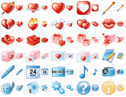 Delicious Love Icons Screenshot 1