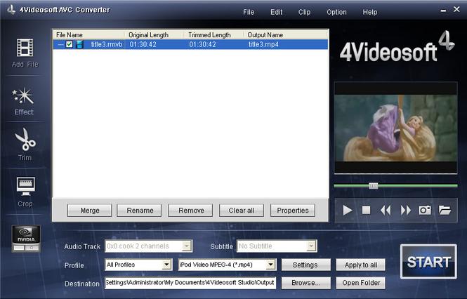 4Videosoft AVC Converter Screenshot 1