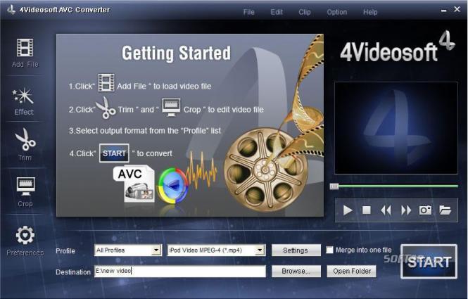 4Videosoft AVC Converter Screenshot 3