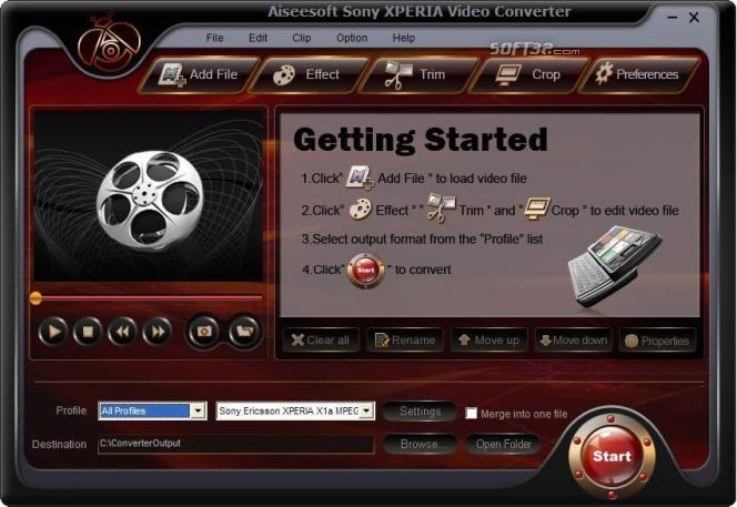 Aiseesoft Sony XPERIA Video Converter Screenshot 3