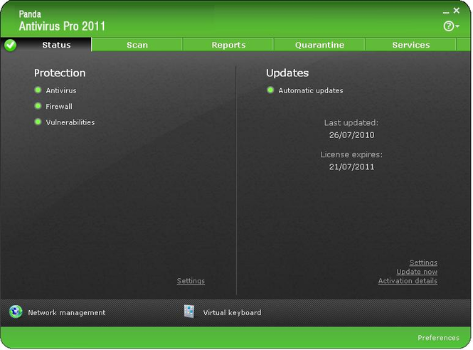 Panda Antivirus Pro 2010 Screenshot 2