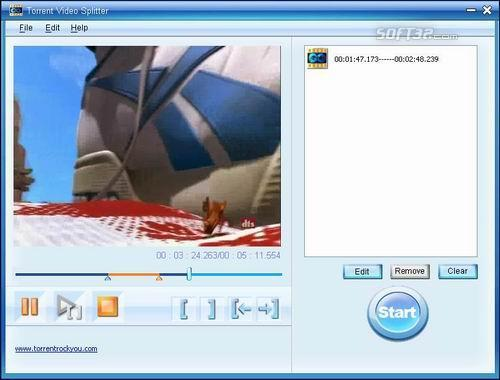 Torrent WMV Video Splitter Screenshot 3