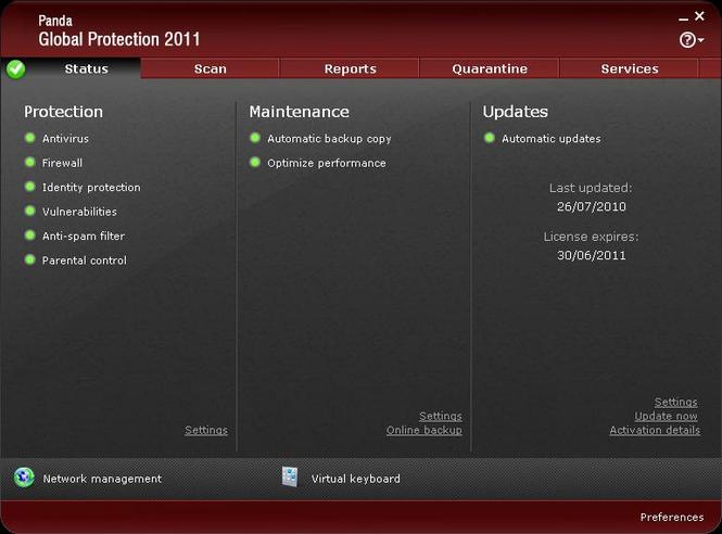 Panda Global Protection Screenshot 2