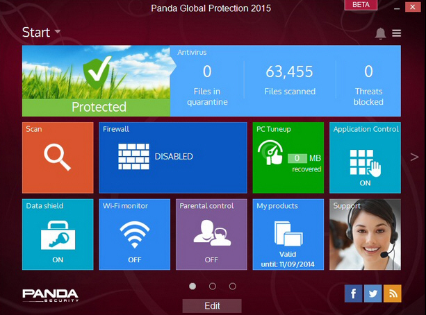 Panda Global Protection Screenshot 1
