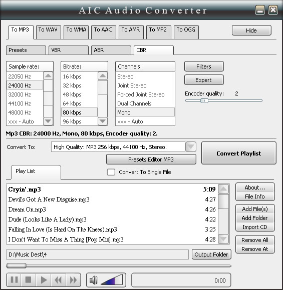 AICAudioConverter Screenshot