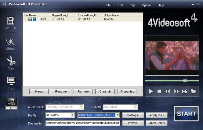 4Videosoft TS Converter Screenshot 2