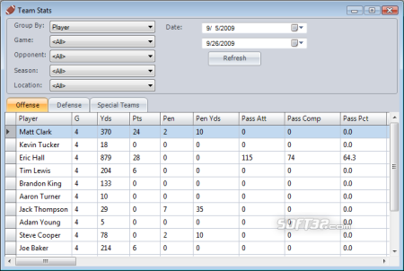 Football Stat Manager Screenshot 3