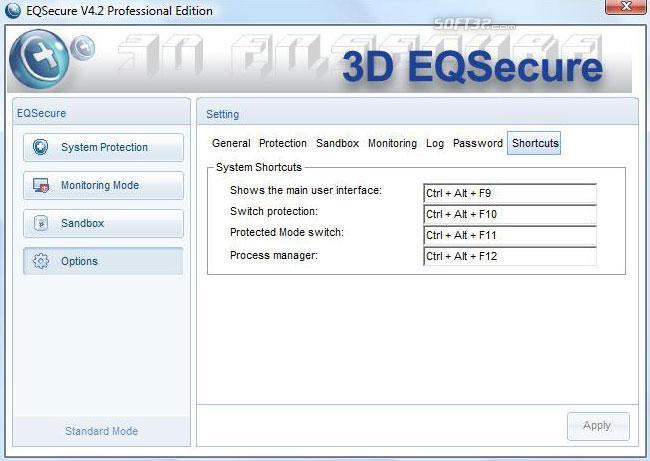 3D EQSecure Screenshot 3