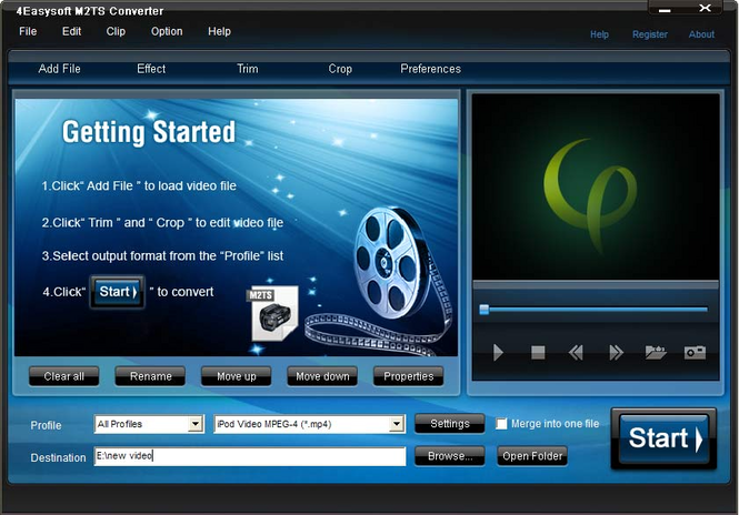 4Easysoft M2TS Converter Screenshot