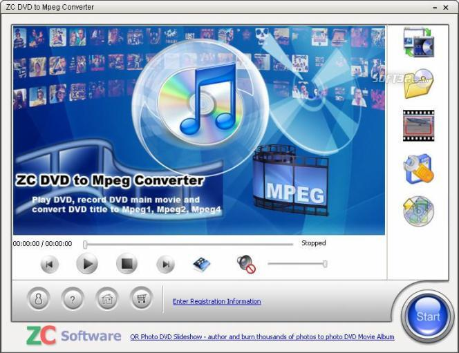 ZC DVD to Mpeg Converter Screenshot