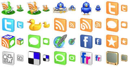 Free 3D Social Icons Screenshot 1