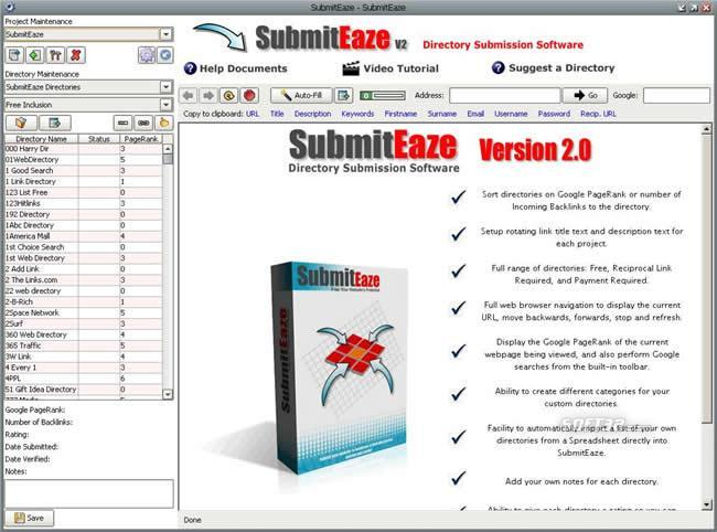 Submiteaze submitter Screenshot 2