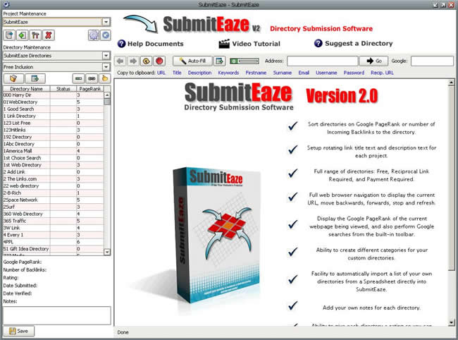 Submiteaze submitter Screenshot