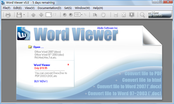 Abdio Word Viewer Screenshot