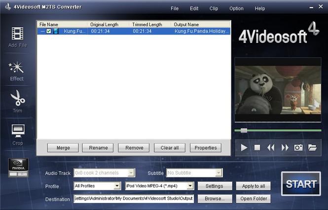 4Videosoft M2TS Converter Screenshot 2