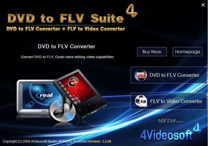 4Videosoft DVD to FLV Suite Screenshot 2