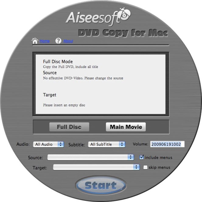 Aiseesoft DVD Copy for Mac Screenshot