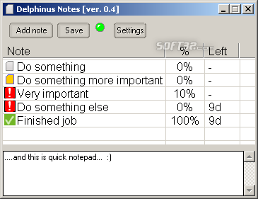 Delphinus Notes Screenshot 2