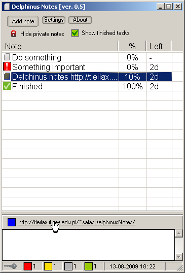 Delphinus Notes Screenshot
