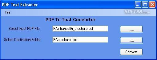 Free PDF To Text Converter Screenshot 2