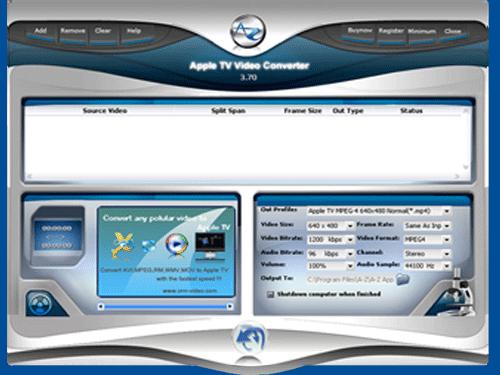 A-Z Apple TV Video Converter Screenshot