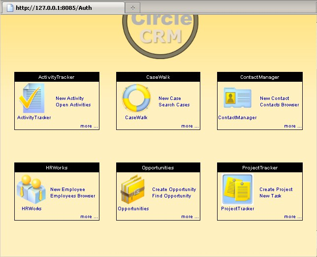 EnCircle CRM Screenshot