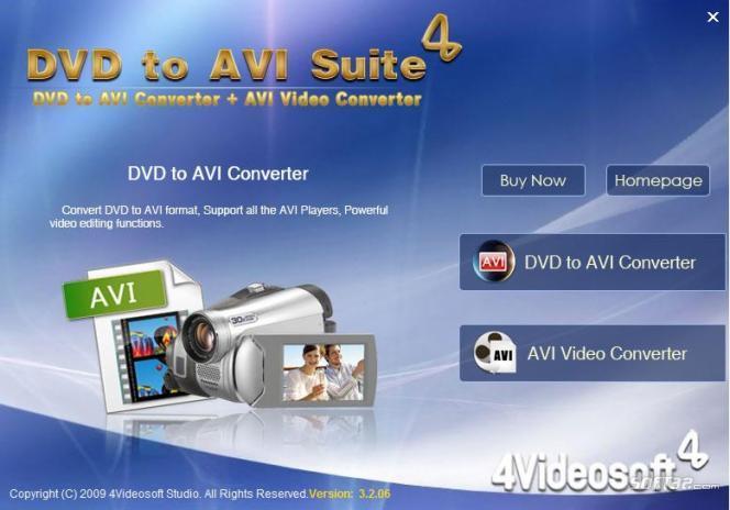 4Videosoft DVD to AVI Suite Screenshot 2