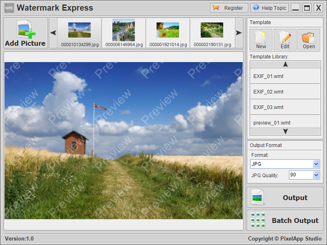 Watermark Express Screenshot