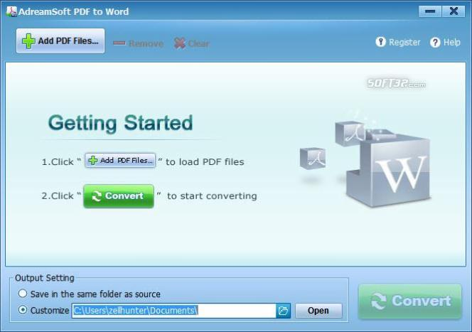 Adreamsoft PDF to Word Converter Screenshot 1