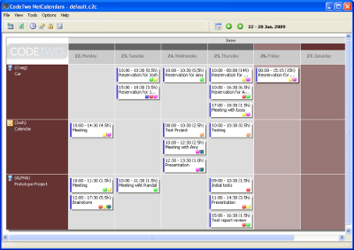 CodeTwo NetCalendars Screenshot