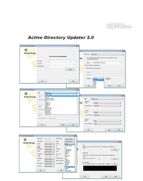 Active Directory Updater Screenshot 1
