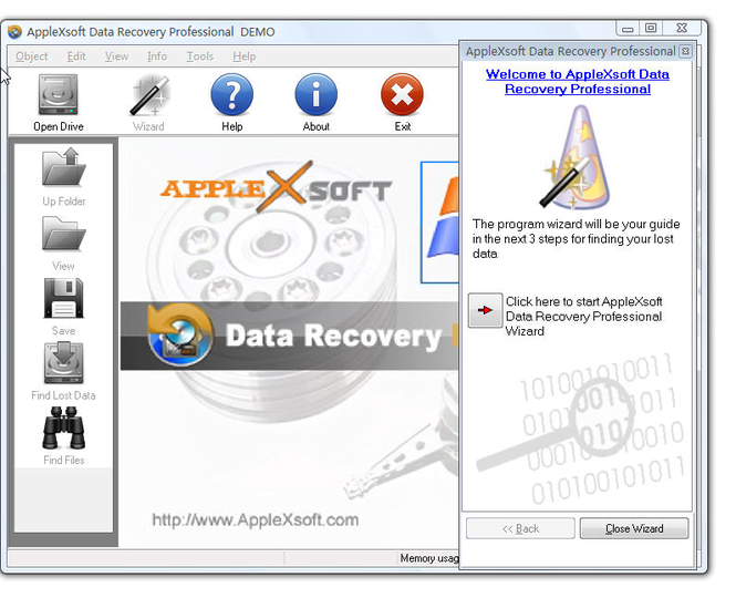 AppleXsoft Data Recovery Professional Screenshot 1