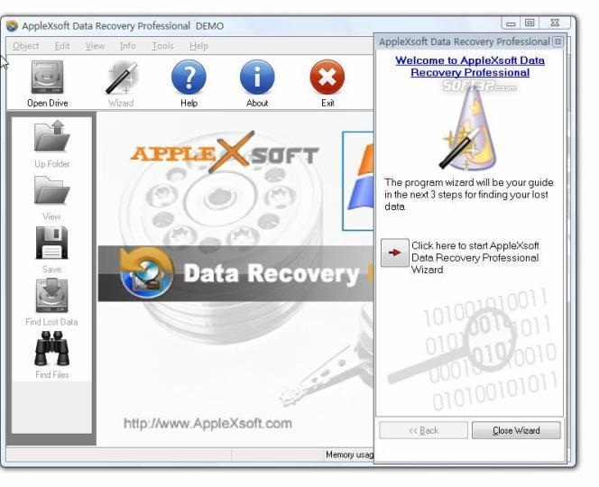 AppleXsoft Data Recovery Professional Screenshot 2