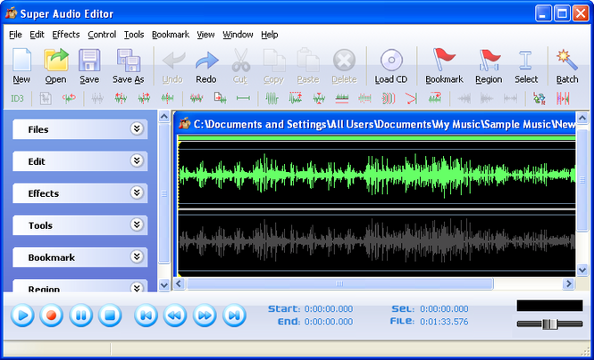 Super Audio Editor Screenshot