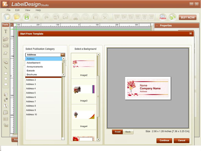 Label Design Studio Screenshot