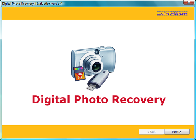 The-Undelete Digital Photo Recovery Screenshot